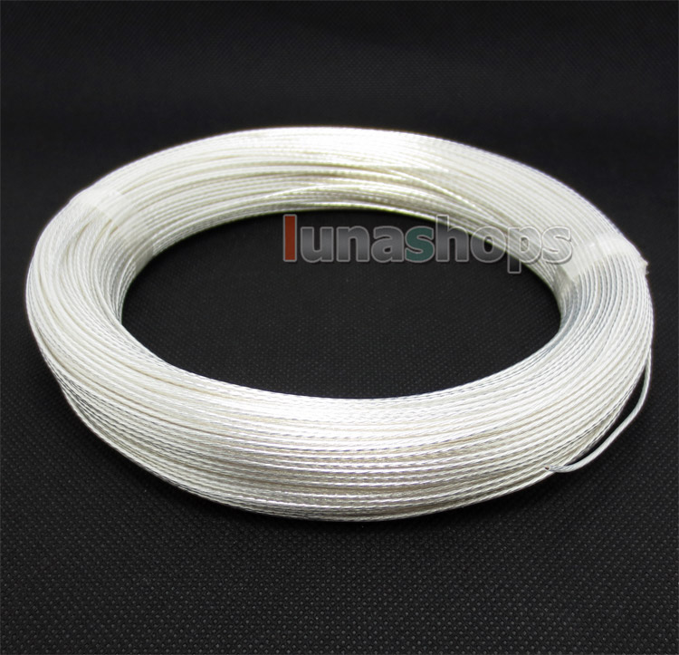 100m Acrolink Silver Plated 6N OCC Signal   Wire Cable 0.3mm2 Dia:1.1mm For DIY
