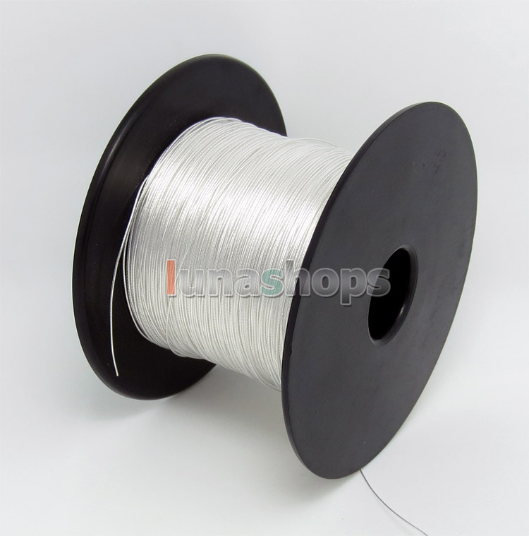 100m 30AWG Acrolink Pure Silver 99.9% Signal   Wire Cable 7/0.1mm2 Dia:0.6mm For DIY