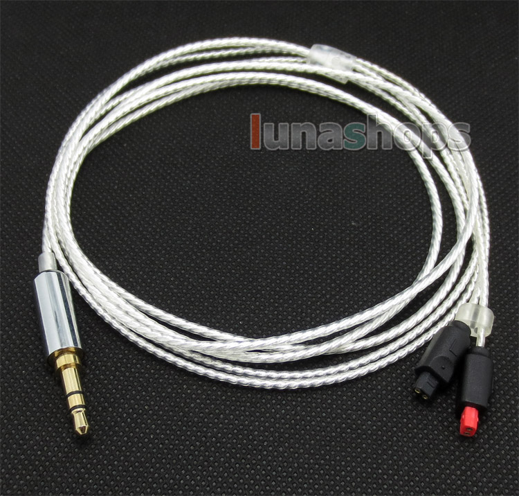 Replacement Audio Silver Cable ATH-IM50 IM70 Remote Mic For Audio Technica