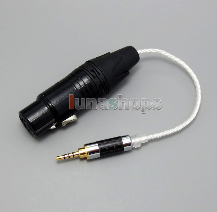 TRRS 2.5mm Balanced To 4pin XLR Female Audio Silver Cable For IRIVER AK240 AK240ss