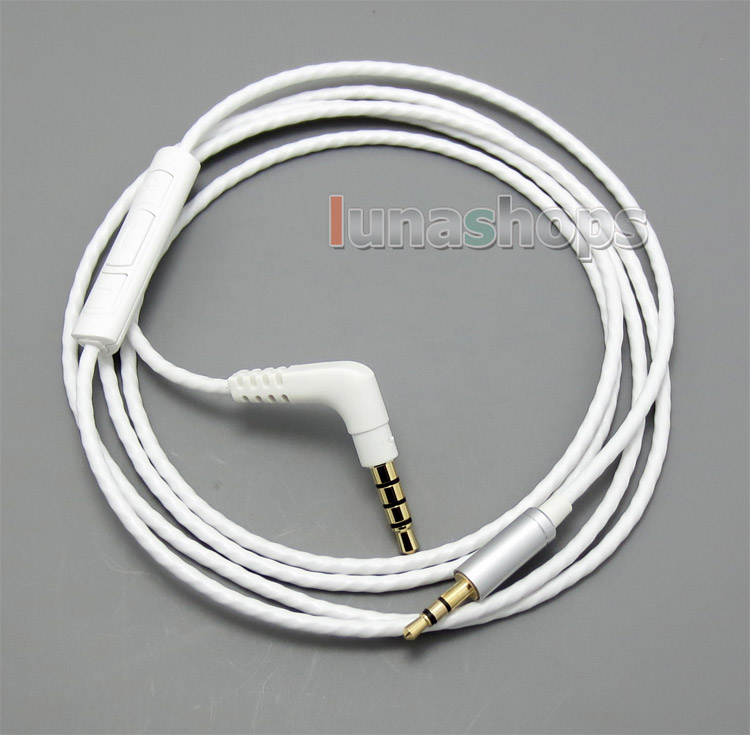 With Remote Mic Headphone Cable