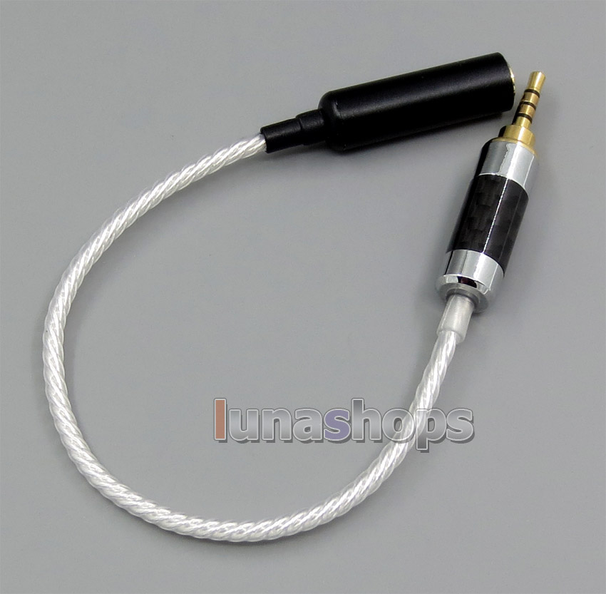 TRRS 2.5mm Balanced To 3pin 3.5mm Female Audio Silver Cable For IRIVER AK240 AK240ss ak380