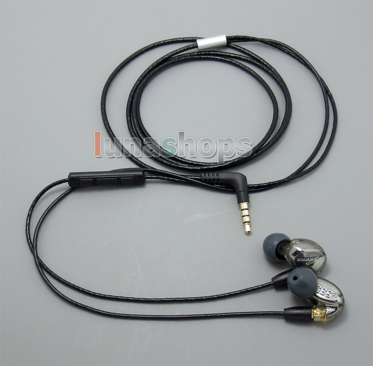 With Mic Remote Volume Earphone Cable For Shure se215 se315 se425 se535 Se846