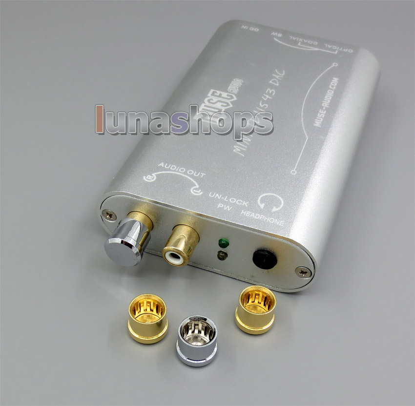 5pcs RCA Female Port Protector Dustfree Antioxidant Adapter For Headphone AMP Etc.