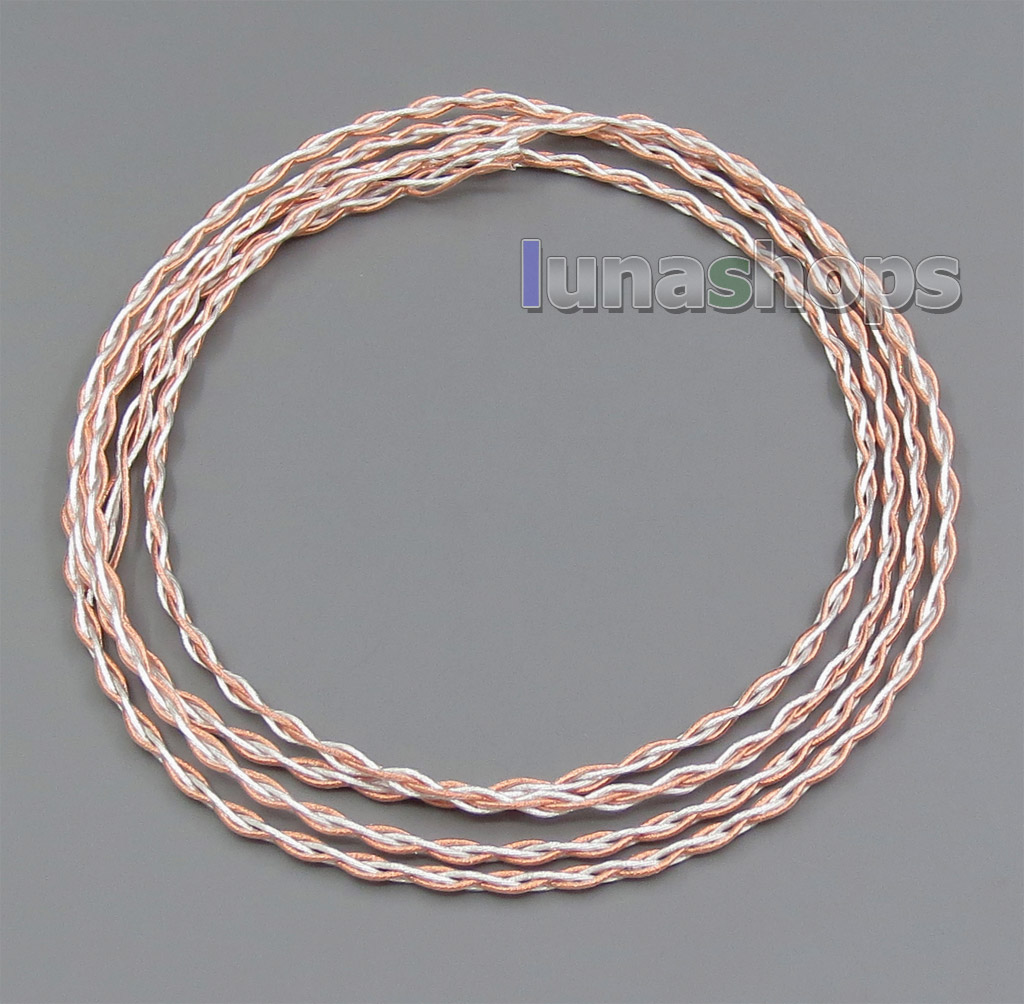 1.3m Semi-finished 400 Wires Extreme Soft Silver + OCC Alloy Signal Teflon AFT Earphone Headphone Cable 4*100*0.05