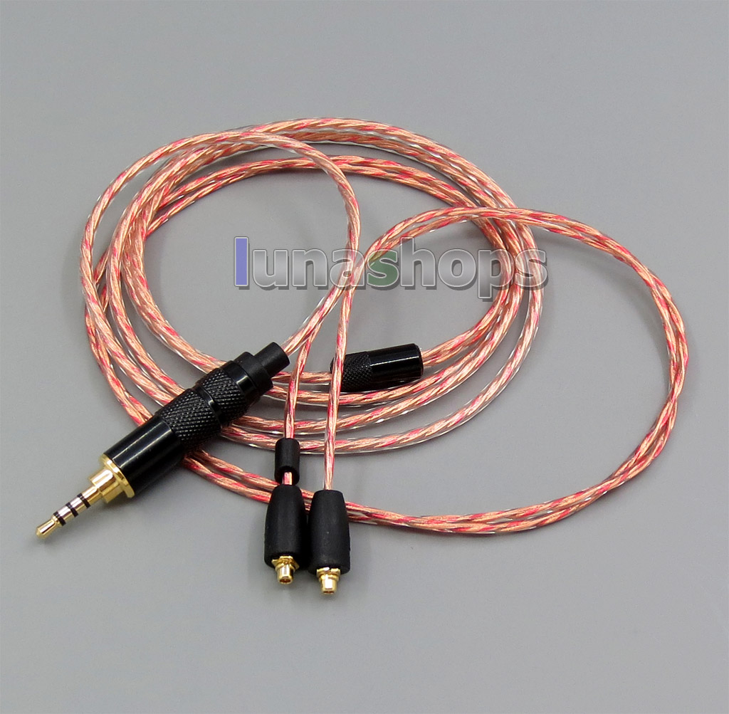 2.5mm TRRS Balanced Soft OFC Shielding Earphone Cable For Shure se215 se315 se425 se535 Se846 Onkoy DP-X1 DAP