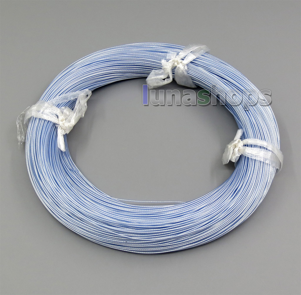 200m Acrolink Silver Plated 6N OCC Teflon Wire Cable 0.1mm2 Dia:0.65mm For DIY