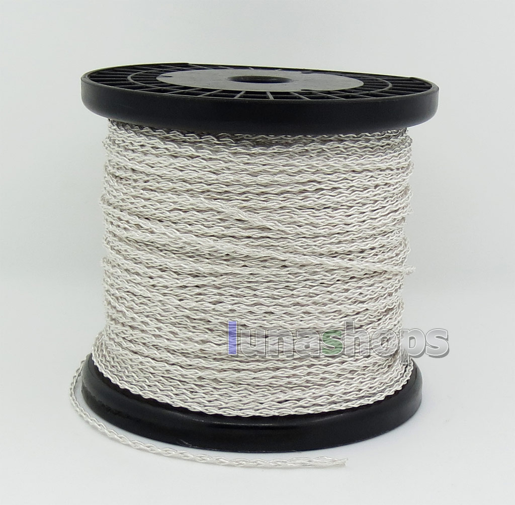 1.3m Semi-finished 400 Wires Extreme Soft Silver + OCC Alloy Signal Tefl AFT Earphone Headphone Cable 4*100*0.05