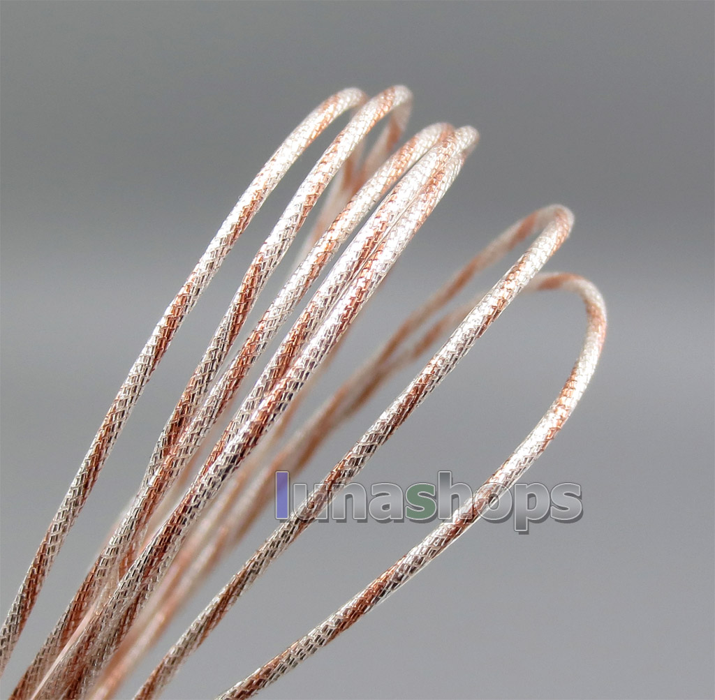200m 7 (5+2) Wires Earphone Silver Plated + OCC Foil PU (Not  ) Skin Insulating Layer Bulk Cable For DIY Custom