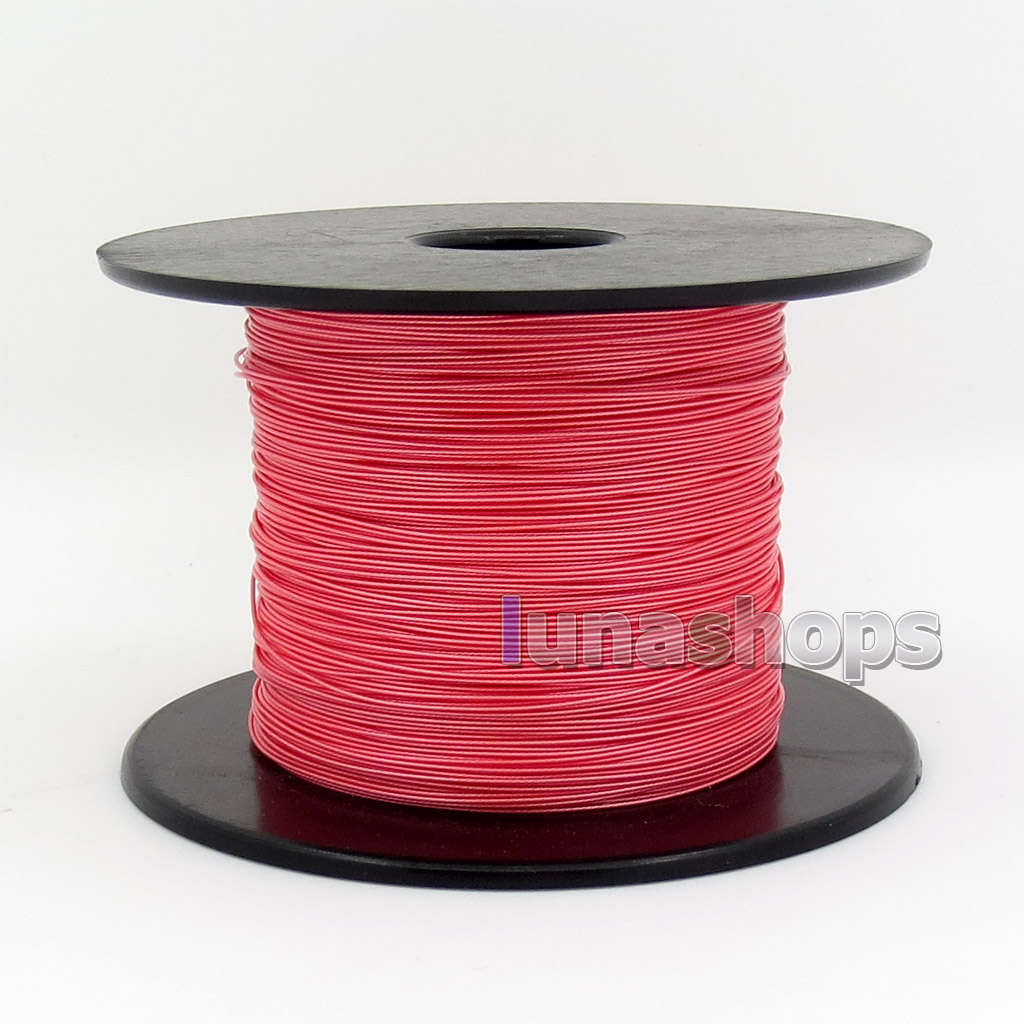 100m 30AWG Acrolink Pure Silver 99.9% Signal Tefl Wire Cable 7/0.1mm2 Dia:0.6mm For DIY