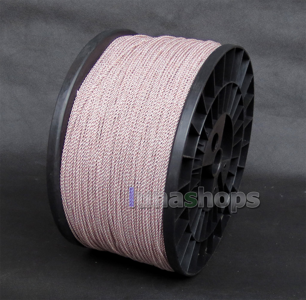 1m Semi-finished Earphone Silver Plated + OCC Foil PU (Not  ) Skin Insulating Layer Bulk Cable For DIY Custom