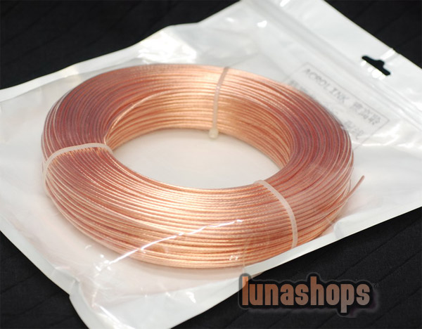 1m Outside Dia:1.5mm 19Pins*0.32mm Acrolink OCC Signal   Wire Cable  For DIY Hifi 99.99999% Pure Copper