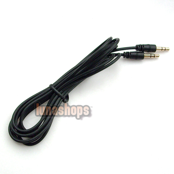 BLACK 3.5MM MALE TO STEREO AUDIO EXTENSION CABLE CORD 200CM