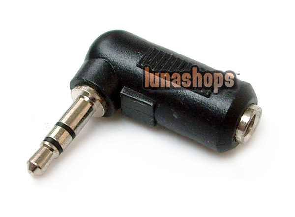 3.5MM Male To Female Stereo Adapter Convertor 90 Degree