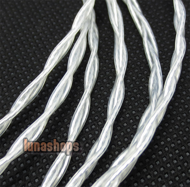 Pure Silver 3.5mm Male to Male Upgrade cable for Monster Beats Studio