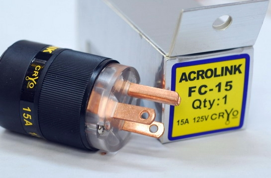 Acrolink refrigeration Series FP-10 Speaker Cable Male Power Plug Adapter Hifi