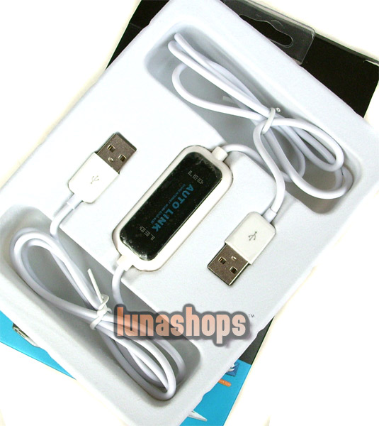 Auto Link Share Internet Work Remote Data Folder Outlook + DVD ROM USB Male Data Cable