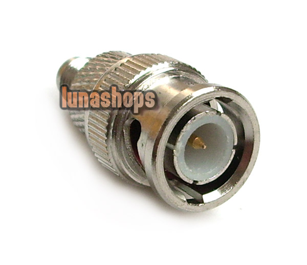 BNC Male to SMA Female plug coax connector adapter