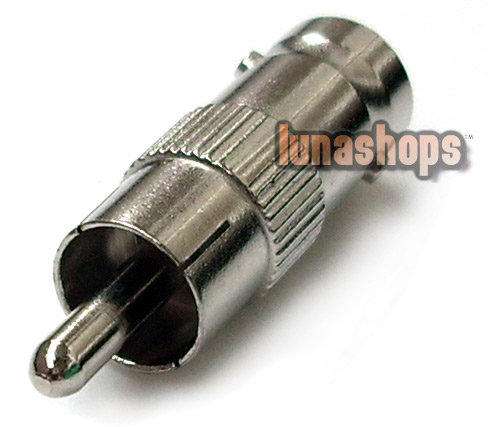 RCA MALE TO BNC FEMALE COAXIAL ADAPTER CONVERTER