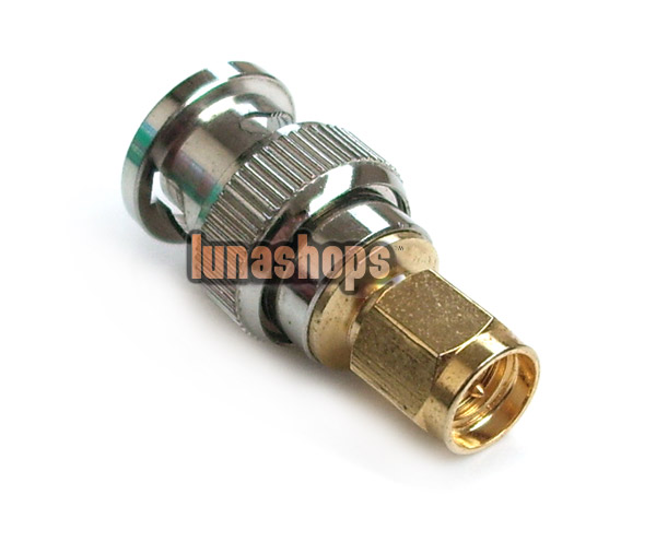 BNC Male to SMA male plug coax connector adapter