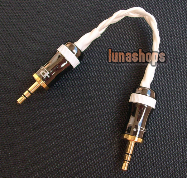 Hifi 3.5mm Pailiccs Male To Male Audio Belt Silver Cable Adapter For Amplifier Decoder DAC