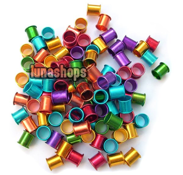 100PCS 8MM color aluminous bird dove pigeon Leg Rings