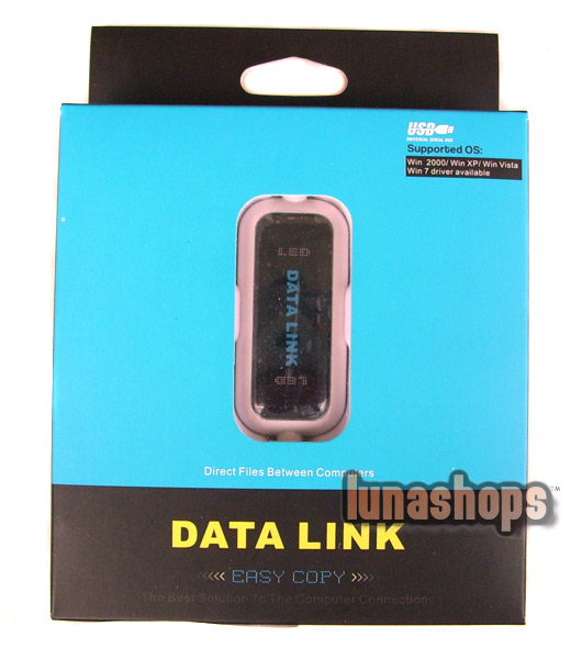 Data Link For Easy Copy File Transfer Between 2 PC USB Male To Male Data Cable