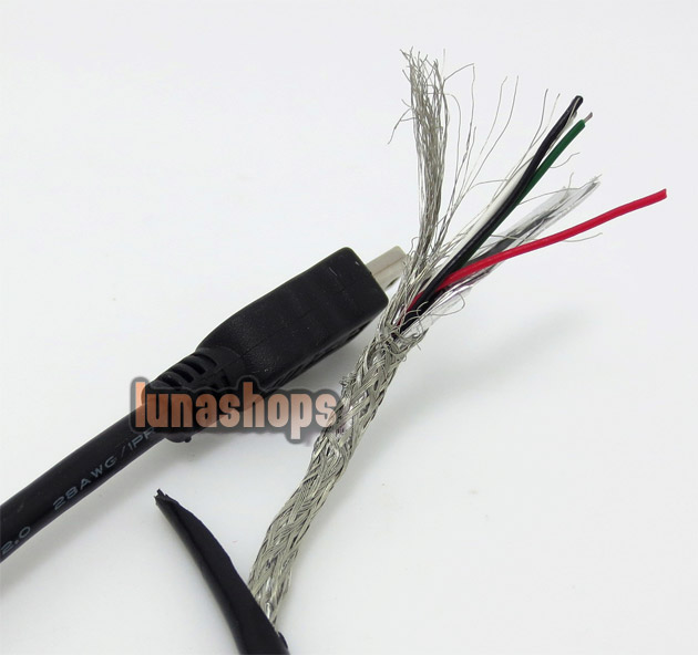 Micro USB 5pin Male To Mini B 5 Pins Male Adapter Converter Data Cable