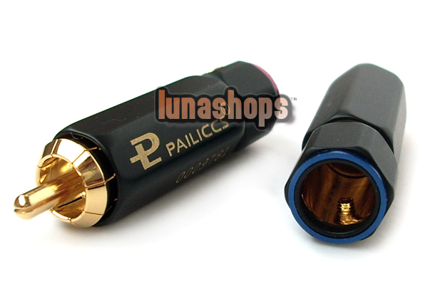 Pailiccs BR-109 lockable Plug Cable Connector RCA male adapter