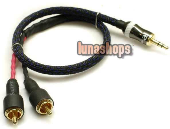 DIY 3.5mm Male to 2 RCA Male Audio Audiophile OCC Y Splitter Cable
