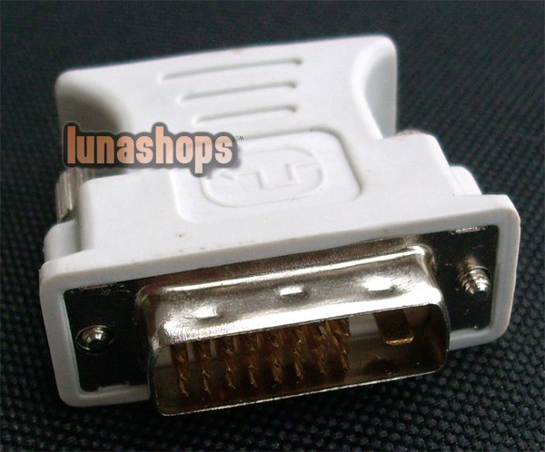 DVI DVI-I (M) 24+1 Pin to VGA VIDEO CONVERTER ADAPTER