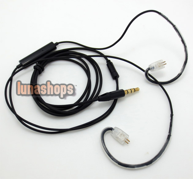 1.2m Handmade Cable + Remote For Ultimate Ears UE TF10 SF3 SF5 5EB 5pro earphone Headphone Iphone/Samsung