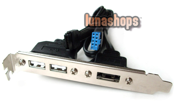 2 Ports USB 2.0 Female + 1 Esata Bracket Card