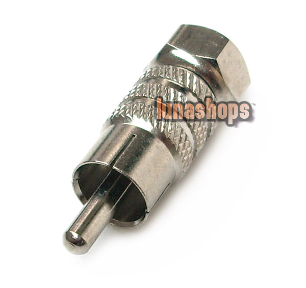 F Male to RCA AV Male Connector Adaptor Brand New