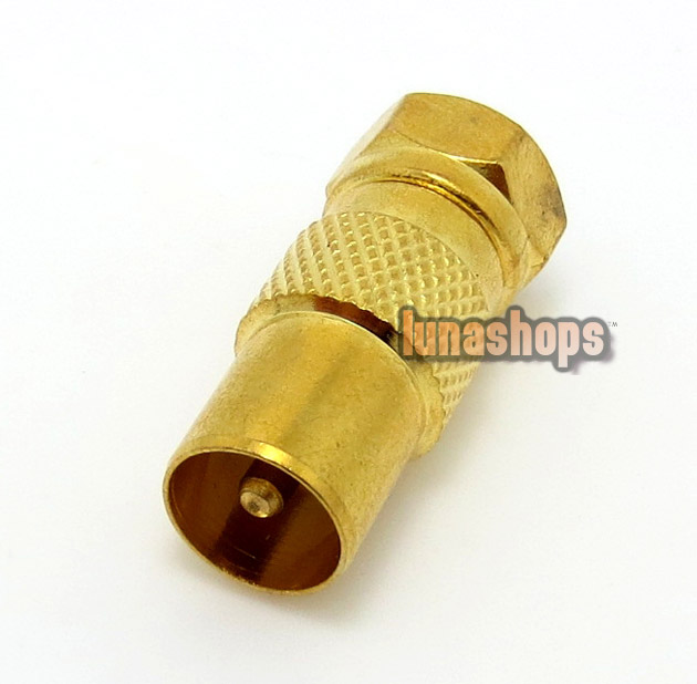 F Male to TV Male Antenna Connector Adapter