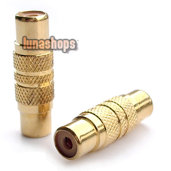 Gold 1 RCA to Female connector coupler Audio Adapter