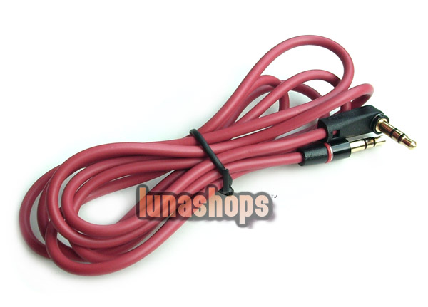 90 Degree 3.5mm Male to Male Upgrade Audio cable For Monster headphone