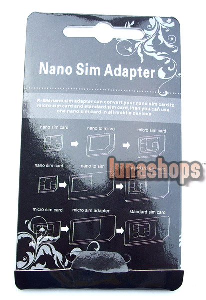 Nano Sim Adapter + Micro sim For Iphone 4 4s 5