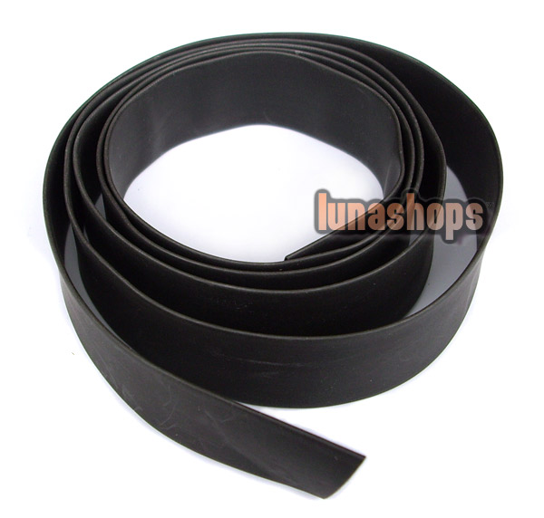 100cm Diameter 13mm Heat Shrink Tubing Tube Sleeve Sleeving For DIY earphone cable black