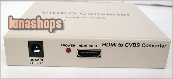 Playvision HDV-10 HDMI TO AV PAL NTSC CVBS Video Audio Convertor