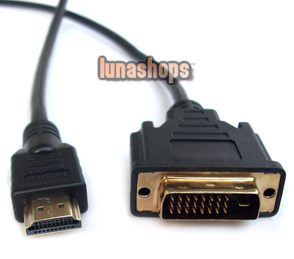 HDMI Male to DVI DVI-D 24+1 Male Cable Adapter Converter For HDTV PS3 xBox