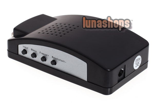 PC/Laptop AV/S CVBS Video To VGA TV Converter Adapter Box HDV200A