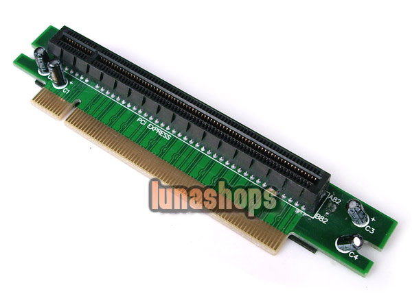 PCI-E Express 16X Protector Extender Extension Riser Card Adapter for 1U 2U