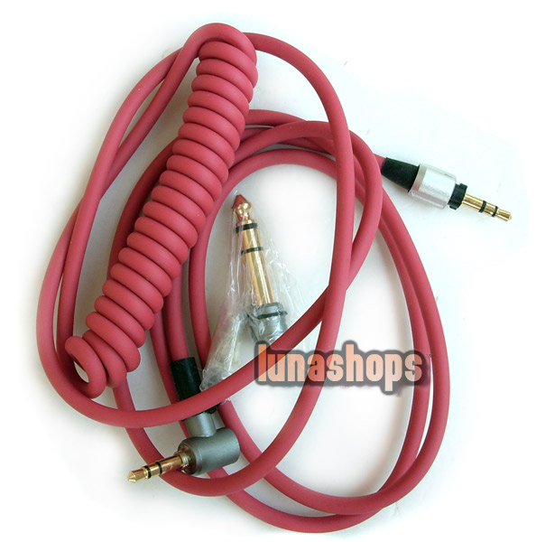 6.5mm + 3.5mm red headphone cable for Monster Headphone Beats Detox PRO Solo