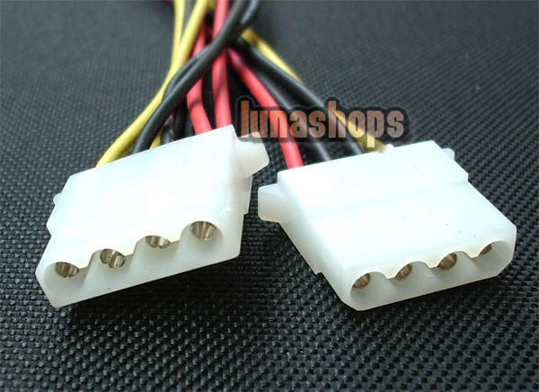Molex Male to 3 Female Power Splitter IDE Y Cable