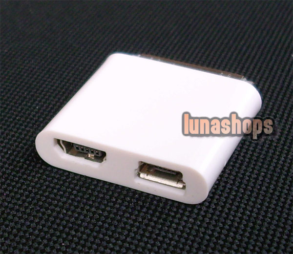 iPad Male To Micro + Mini USB Female 30 Pin Adapter Connector For Apple iPhone