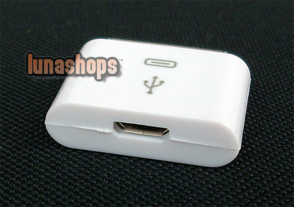 Micro USB Female to 30pin Male Charger Adapter iPhone 4 4S 4G 3G 3GS iPad 2 iPod