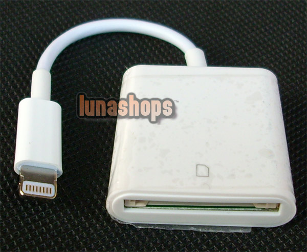 OEM APPLE Lightning to SD Card Camera Reader IPHONE 5 IPAD IPOD