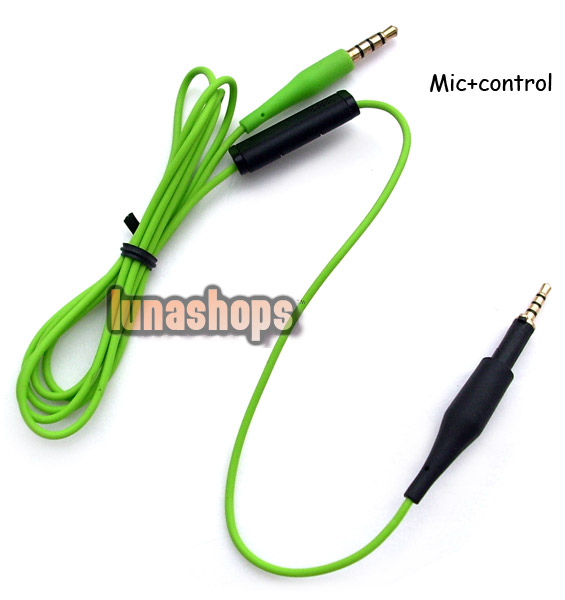 117cm replacement cable with Control Talk Mic Remote for AKG K450 Q460 K480 Headphone