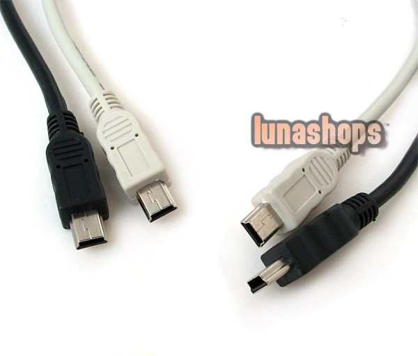 Mini USB B 5pin 5 pin T male to male M/M USB cable cord